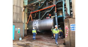 Britlift Equipment Lifts 37 Tonne Heat Exchanger