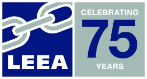 LEEA logo 75 years