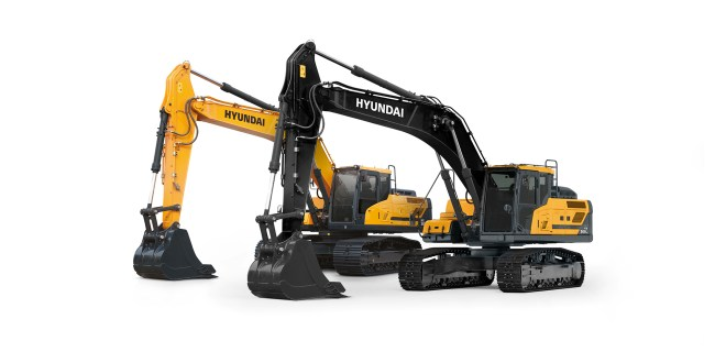 Hyundai Construction Equipment Europe HCEE reveals all-new look for A-series machines during annual dealer conference