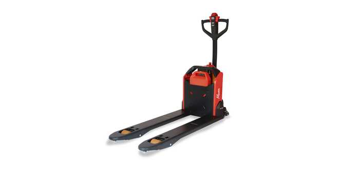 New, unique and innovative Lithium powered pallet truck from Logitrans