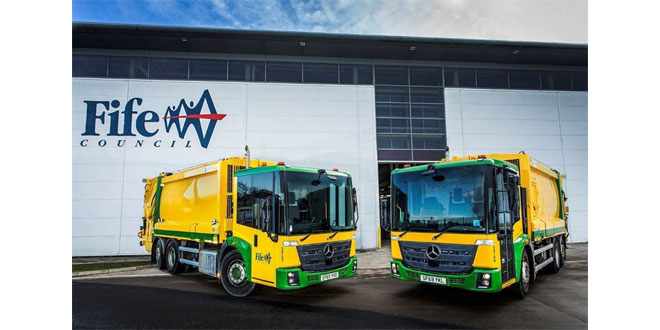 Fife Council gears up for fuel savings with 11 more Mercedes-Benz Econics from Western Commercial