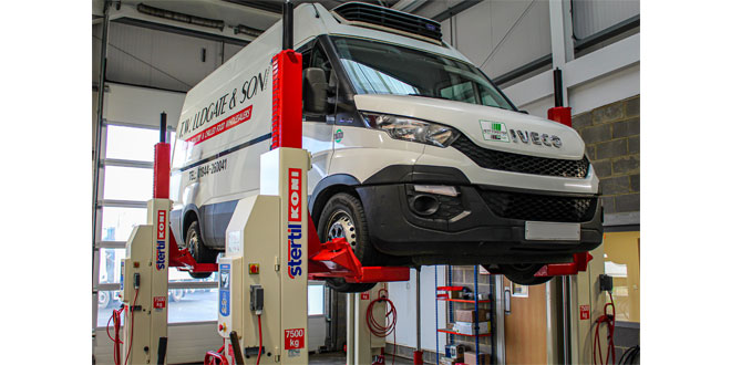 Stertil Koni mobile column lifts ensure maximum space utilisation