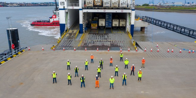 Successful ship trials at London's new unaccompanied roll-on/roll-off terminal at Tilbury2