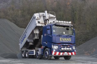 Renault Trucks Range C delivers for Evans Aggregates