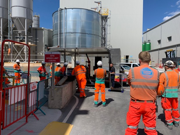 The Rig Safe Rig Smart European Trailer spent a week at the Thames Tideway Tunnel project