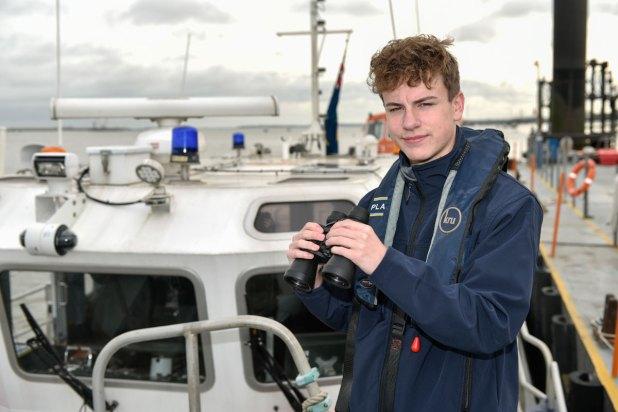 Ted Jones PLA marine services apprentice