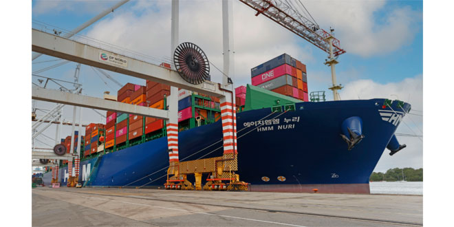 First in a new generation of HMM ships arrives at DP World's container terminal at Southampton this week