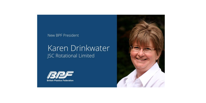 Karen Drinkwater Elected as New President of the British Plastics Federation