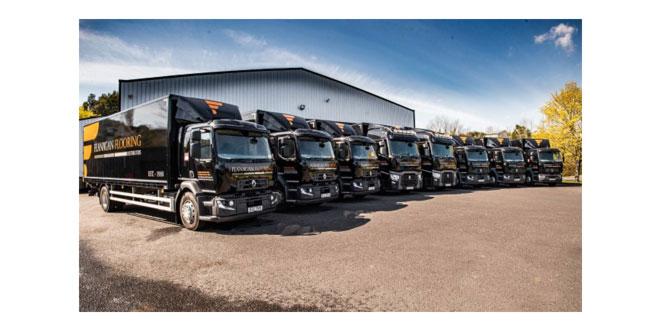 Renault trucks floors the competition in Flanagan Flooring fleet win