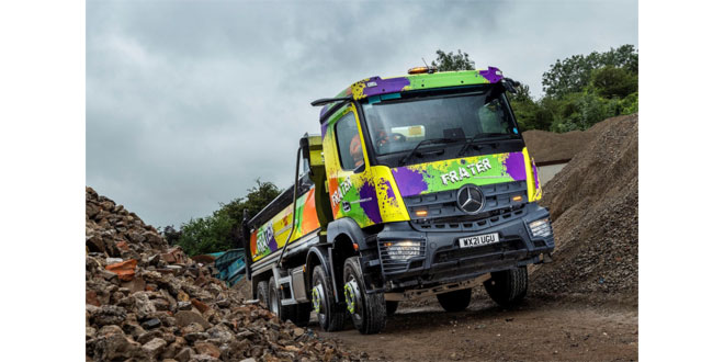 Frater Urban Quarry turns to City West Commercials for an 8x4 Mercedes-Benz Arocs thats a real blast