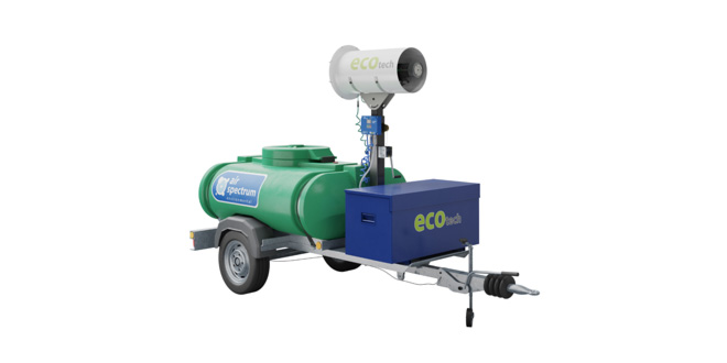 Air Spectrum launches the UK's first battery powered, zero emissions dust suppression misting system – The ecotech Rotary Atomiser