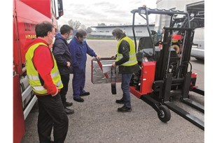 PALFINGER Noise reduction on Truck Mounted Forklifts thanks to the new Silent Pack