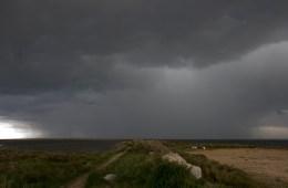Salins sous l'orage