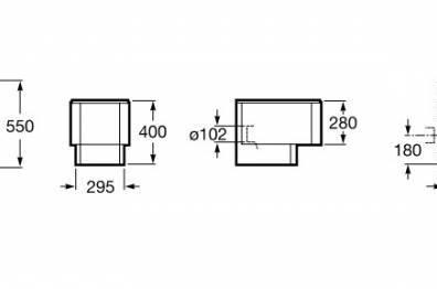 Medidas Inodoro Element de Cisterna Empotrada