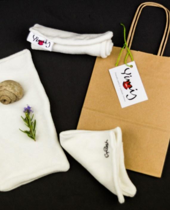 toallitas de bambú reutilizables