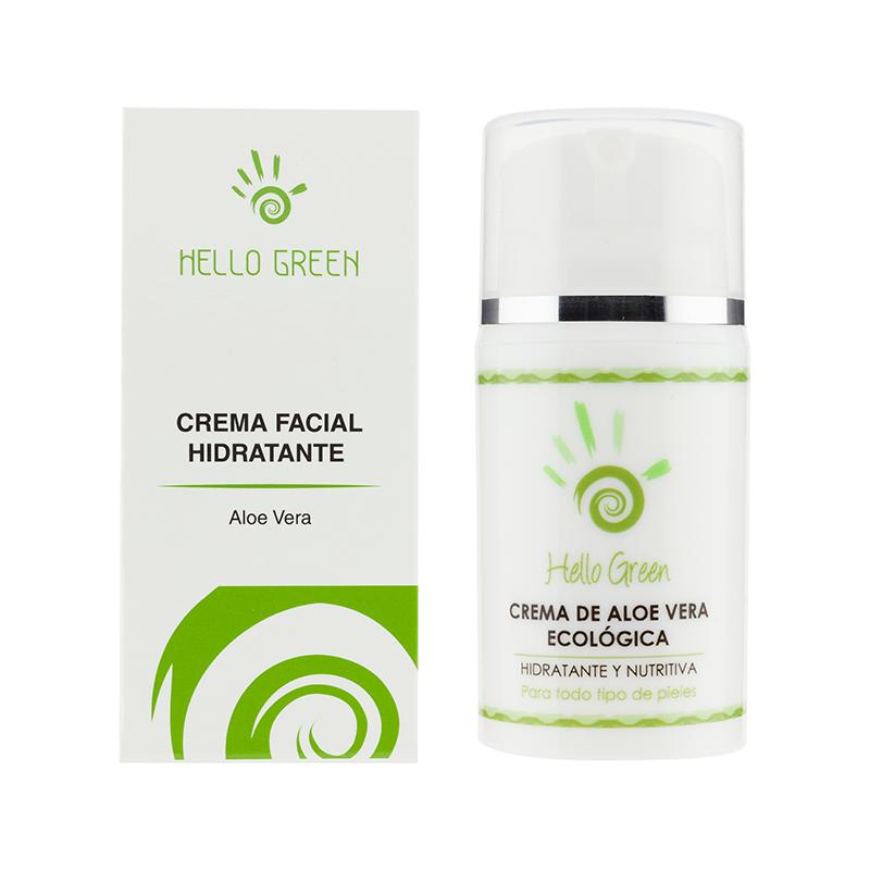 Crema facial de aloe vera – Todo tipo de pieles – 15% DTO!!