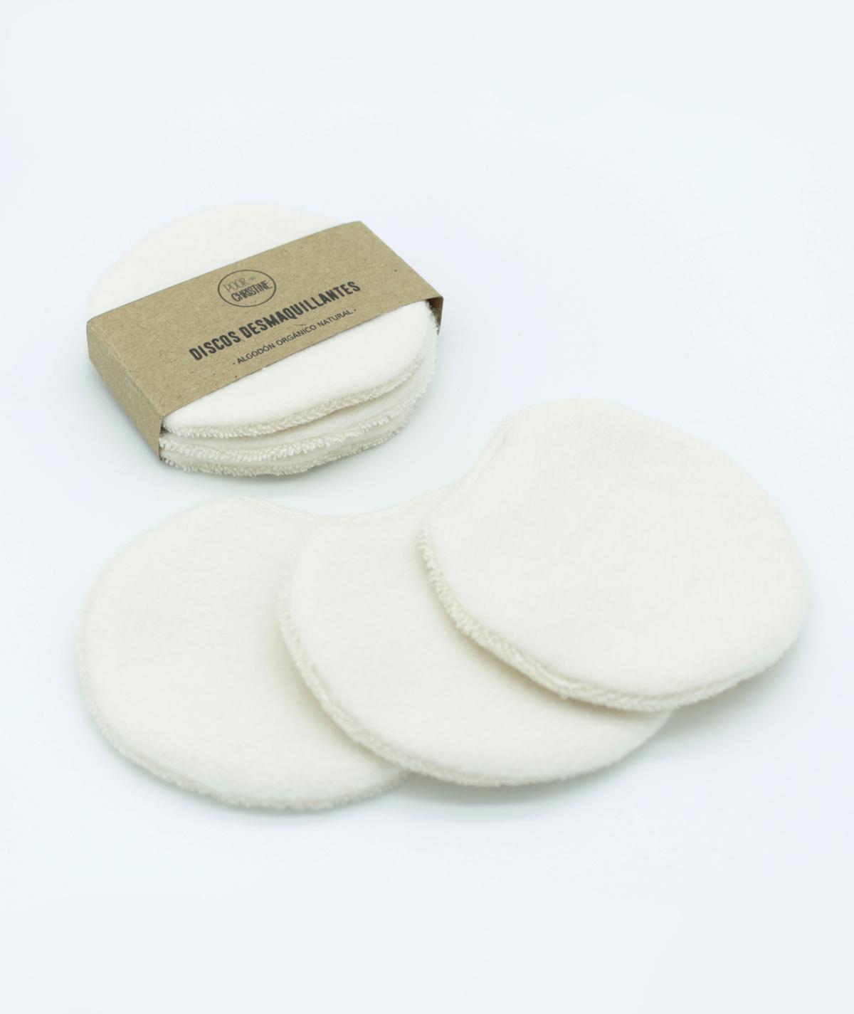Pack 3 Discos Desmaquillantes Grandes Reutilizables
