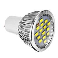 1pc 6 W LED spotlampen 400 lm E14 GU10 E26 / E27 15 LED kralen SMD 5730 Dimbaar Warm wit Koel ...