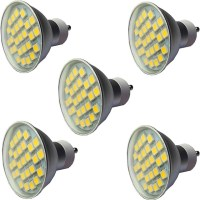 5 stuks 3.5 W LED spotlampen 300 lm GU10 GU10 27 LED kralen SMD 5050 Dimbaar Warm wit Wit 220 ...