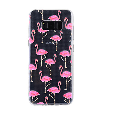 Case For Samsung Galaxy S8 Plus S8 Transparent Pattern Embossed Back Cover  Flamingo Soft TPU For S8 Plus S8 S7 Edge S7 S5 #05822792