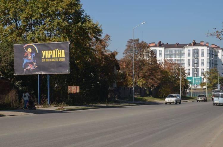 До Дня захисника України в Івано-Франківську з'явилися білборди з плакатами відомого художника (фото)
