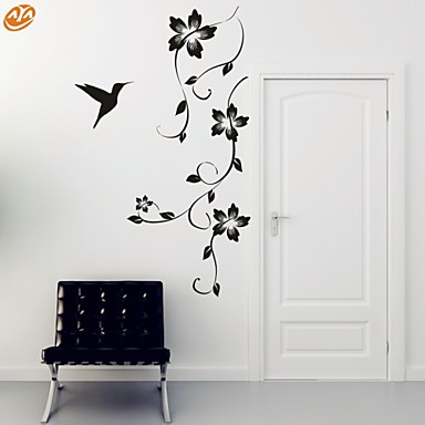 Romance Fashion Florals Wall Stickers Plane Wall Stickers Decorative Wall  Stickers, Vinyl Home Decoration Wall Decal Wall #04938527