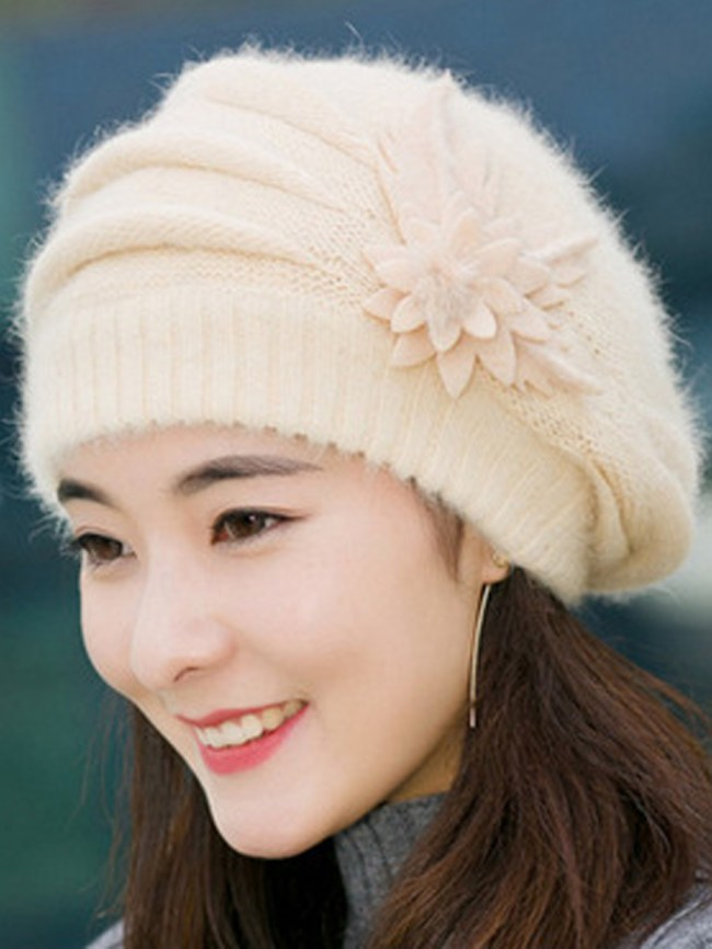 Fashionmia Elegance Fashion Faux Fur Tassel Decoration Polyamide Hats For Women