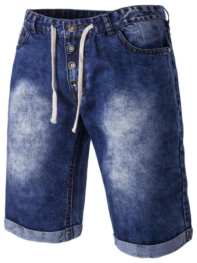 Fashionmia Patch Pocket Acid Wash Men's Midi Jeans