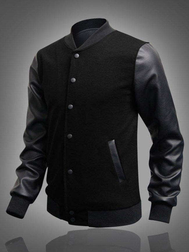 Fashionmia Band Collar Patchwork Pocket Men Jacket