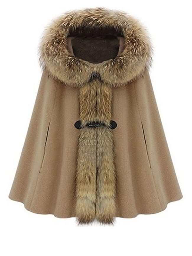Fashionmia Trendy Chic Hooded Overcoat Woolen Cape