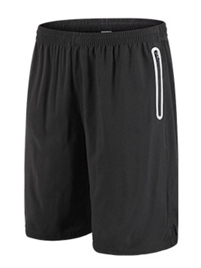 Fashionmia Contrast Trim Quick Dry Zips Pocket Men's Shorts