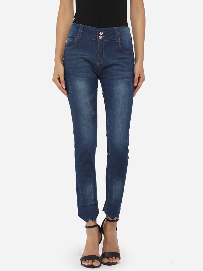 Fashionmia Pockets Denim Jeans
