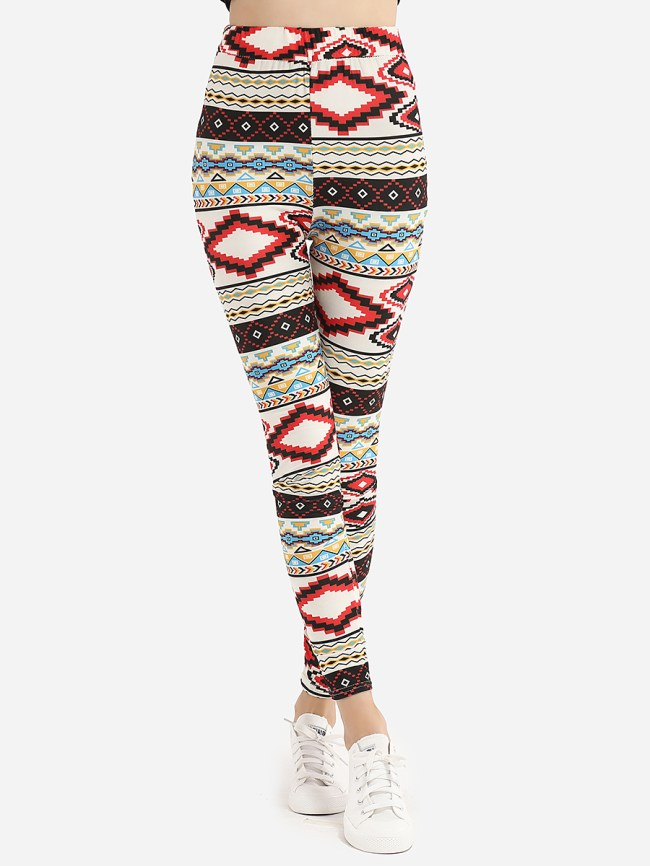Fashionmia Dacron Printed Leggings