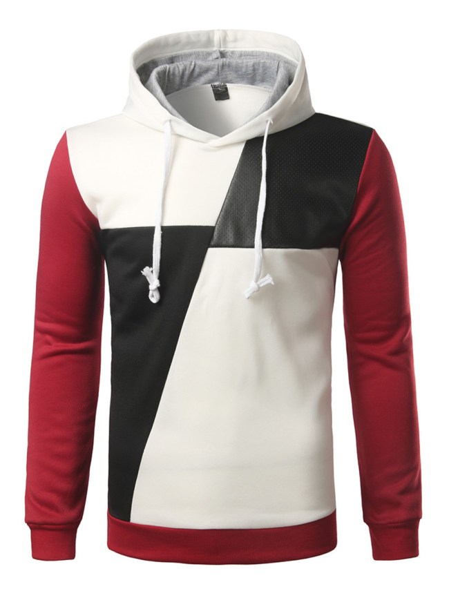 Fashionmia Modern Patchwork Color Block Men Hoodie