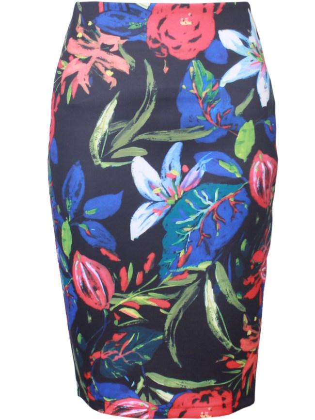 Fashionmia Charming Printed Pencil Midi Skirt