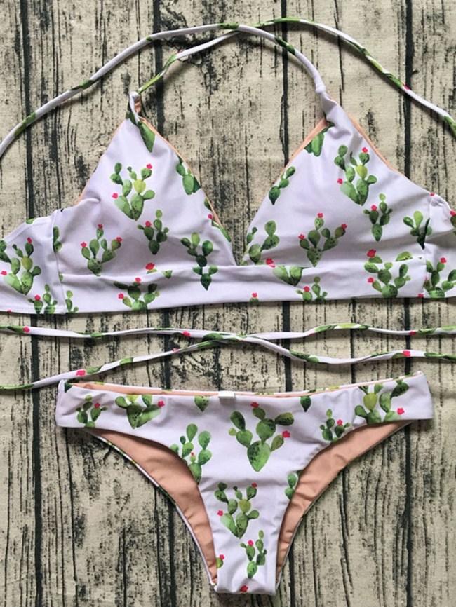 Fashionmia Lovely Pattern Two-Piece Bikini Swimwear