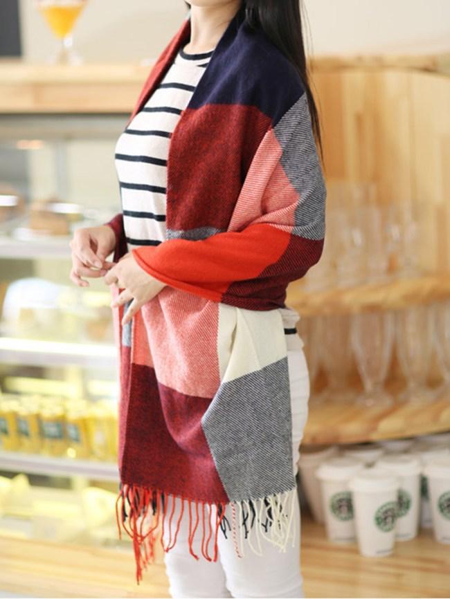 Fashionmia Lady Fashion Woolen Plald Scarves