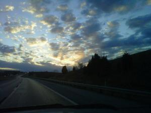 Beautiful sunrise in Northern Oklahoma