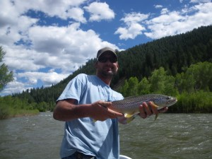 Hank with a brown trout