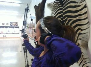 LG improves her shot in archery