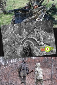 Mia & the Little Gal on youth turkey hunting with an outfitter