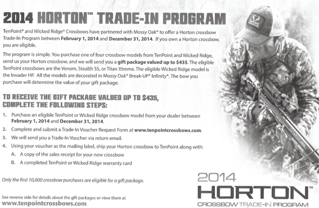 Horton Crossbows Trade-in Program