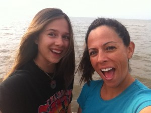 Lea and Mia at Lake Erie