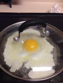 Basting the egg