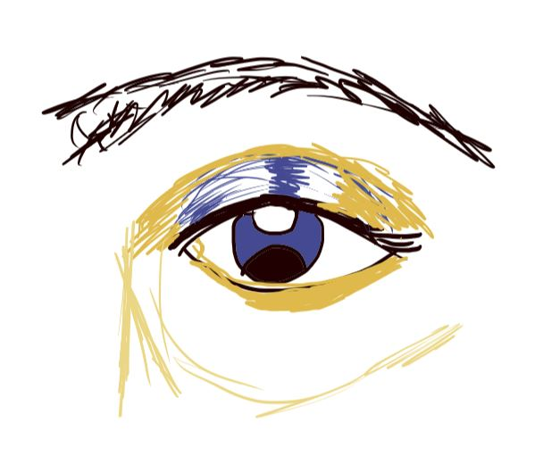 Blue Eye drawing on Tablet Electronically