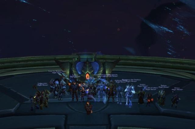 Guild achievement Photo. First kill!  Congratulations guys!
