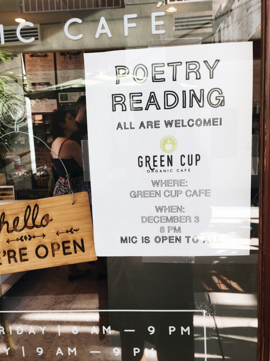 green cup cafe poetry reading