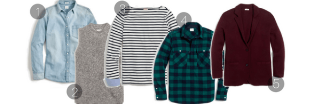 jcrew factory pieces you need for fall