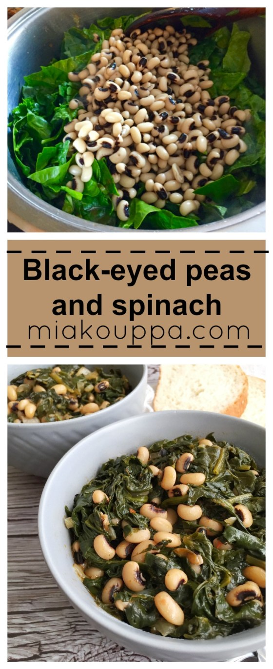 Black-eyed peas and spinach