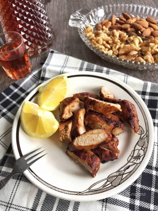 Pork tenderloin fillet appetizer